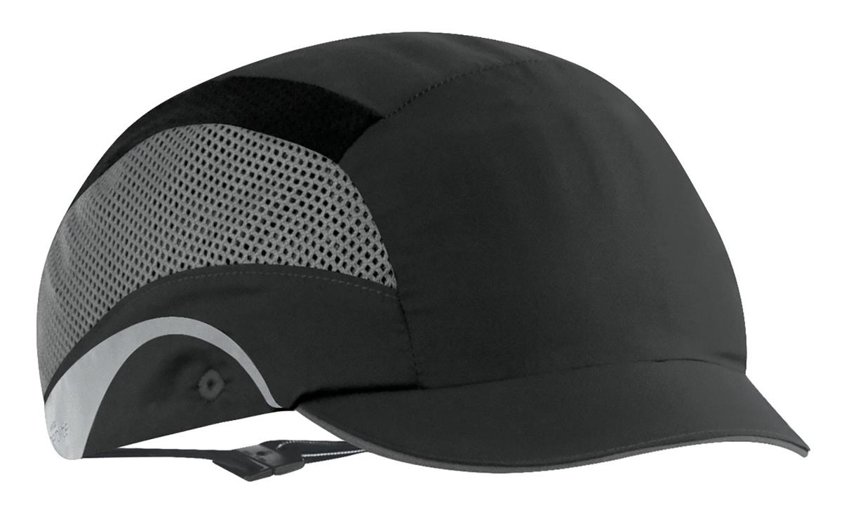JSP HardCap AeroLite Bump Cap HDPE Shell Water Repellent Short Peak Black Ref AAF000-001-100