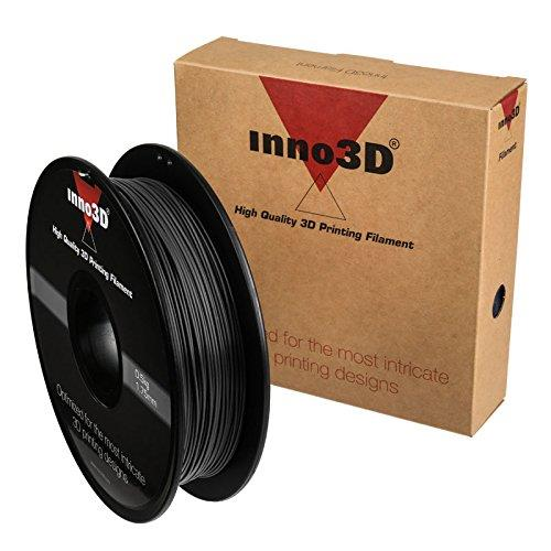 Inno3D PLA Filament for 3D Printer 1.75x200mm 0.5kg Black Ref 3DPFP175BK05