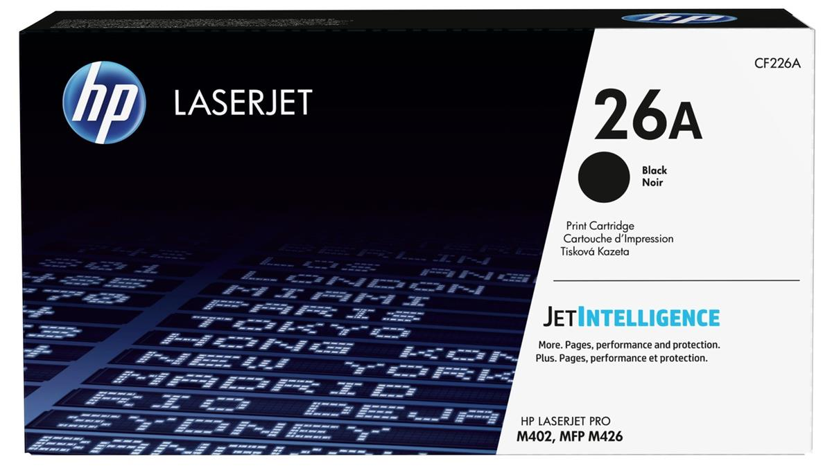 Hewlett Packard [HP] No.26A Laser Toner Cartridge Page Life 3100pp Black Ref CF226A