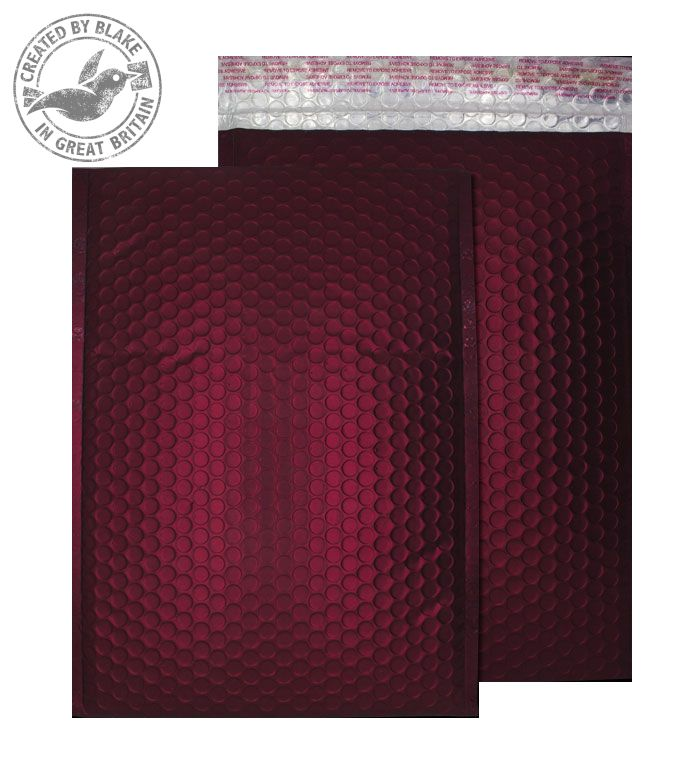 Purely Packaging Bubble Envelope P&S C4 Matt Metallic Wine Ref MTWR324 [Pk 100] *3 to 5 Day Leadtime*
