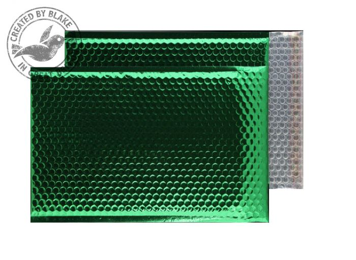 Purely Packaging Bubble Envelope P&S C4 Metallic EmGreen Ref MBGRE324 [Pk 100] *3 to 5 Day Leadtime*