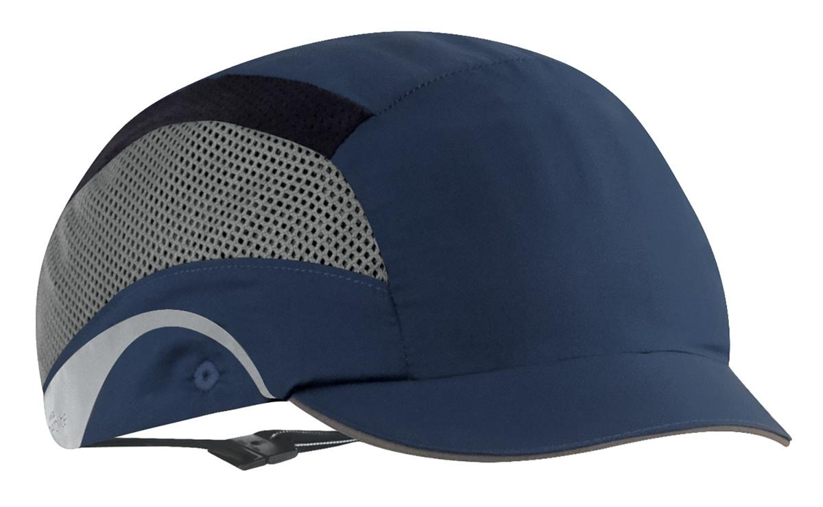 JSP HardCap AeroLite Bump Cap HDPE Shell Water Repellent Short Peak Navy Ref AAF000-002-100