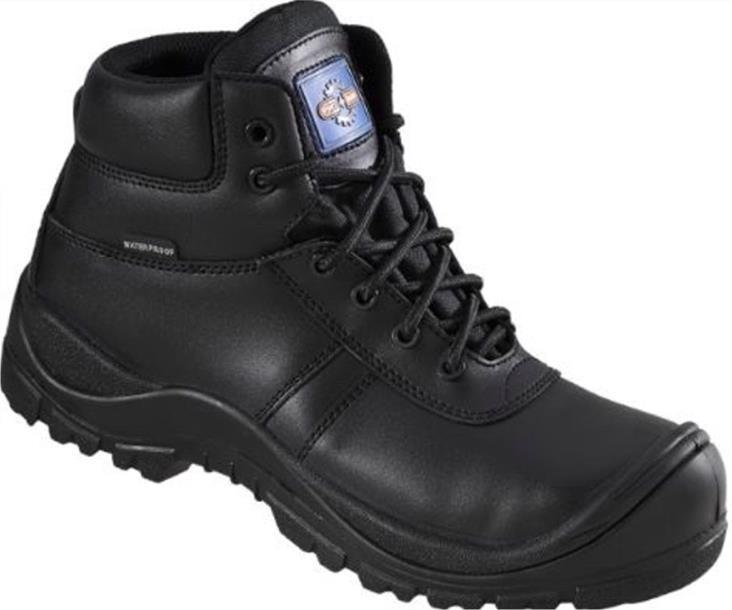 Rockfall Proman Boot Leather Waterproof 100% Non-Metallic Size 12 Black Ref PM4008-12 *5-7 Day Leadtime*