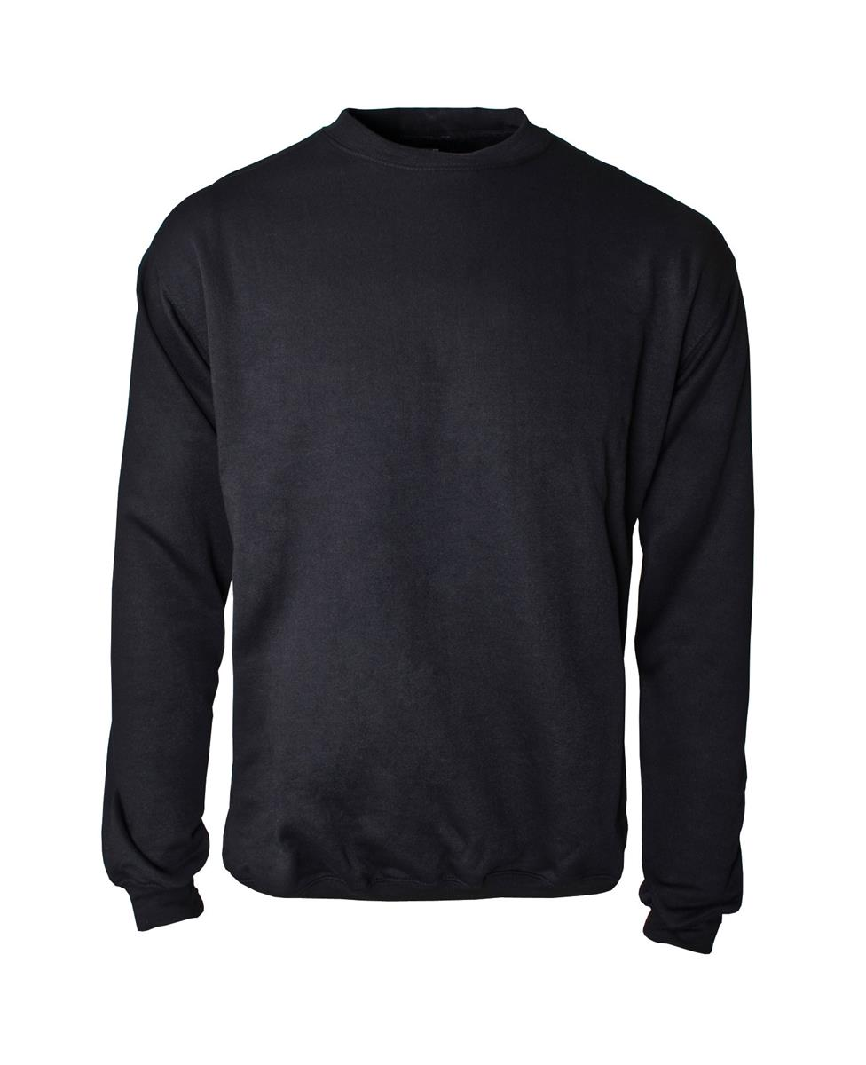 Supertouch Sweatshirt with Crew Neck Small Black (Pack of 1)