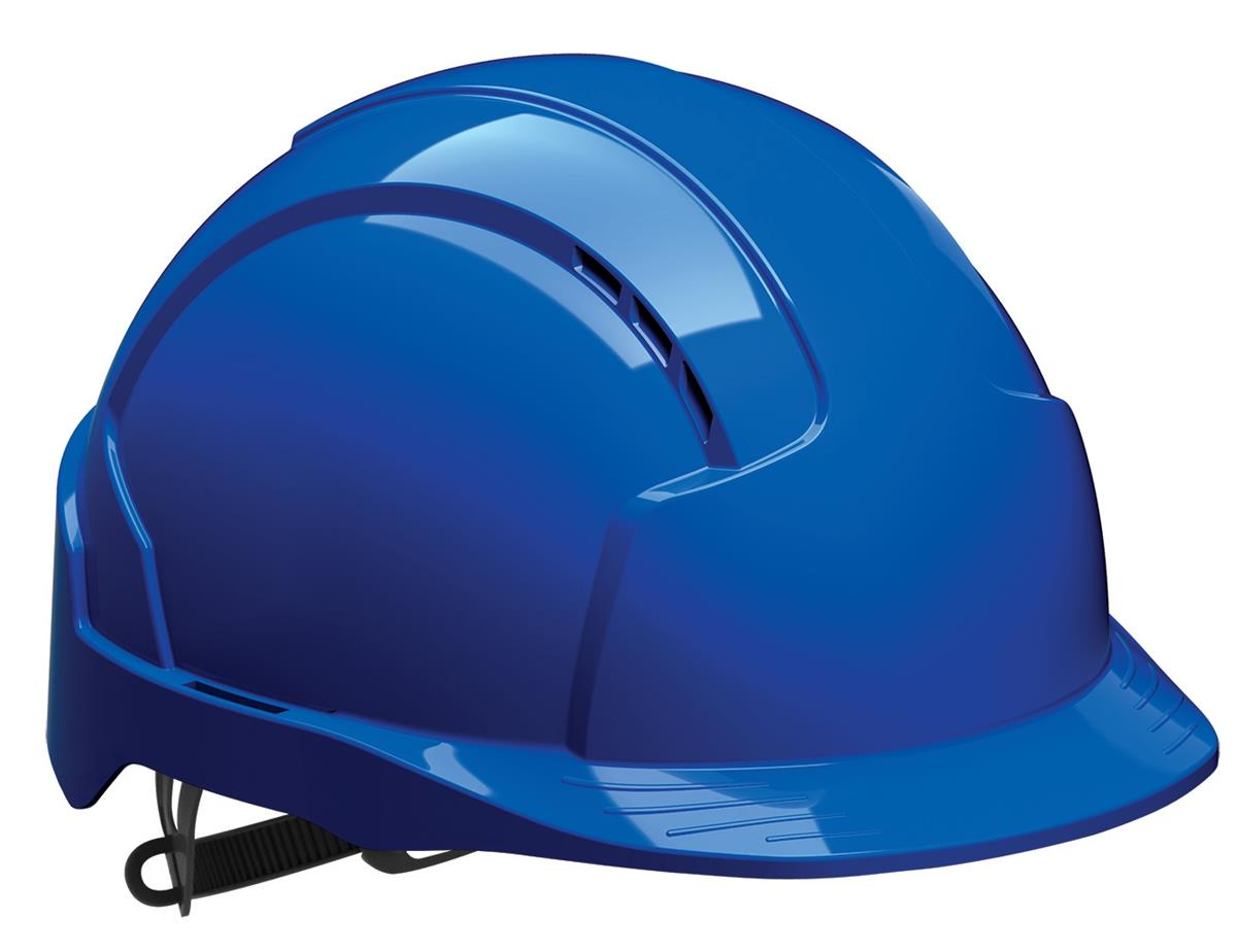JSP EVOLite CR2 Safety Helmet ABS 6-point Terylene Harness EN397 Standard Blue Ref AJB160-000-500