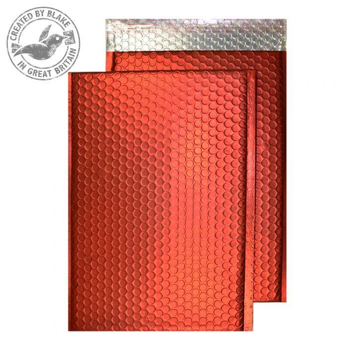 Purely Packaging Bubble Envelope P&S C5+ Matt Metallic Chilli Ref MTR250 [Pk 100] *3 to 5 Day Leadtime*