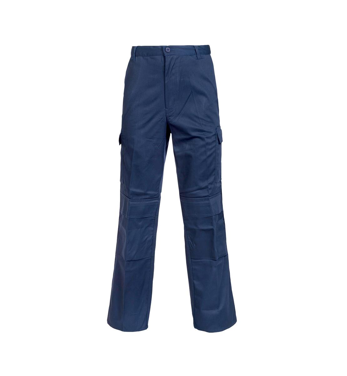 Combat Trousers Polycotton with Pockets 40in Long Navy Blue Ref PCTHWN40T *1-3 Days Lead Time*