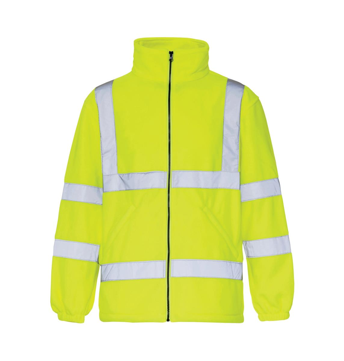 ST High Vis Micro Fleece Jacket Poly with Zip Fastening Med Yellow Ref 38042 *Approx 3 Day Leadtime*