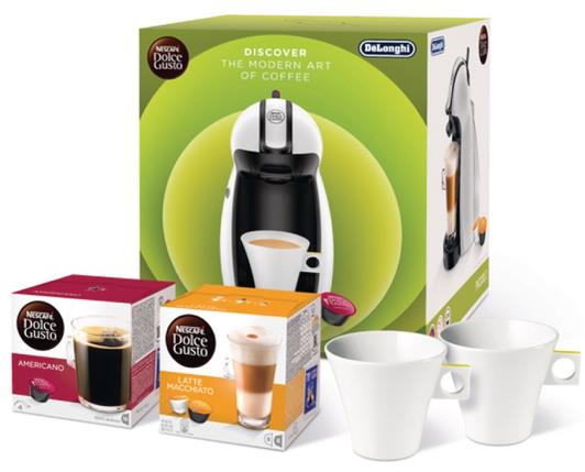 Dolce Gusto Manual Coffee Machine 15-Bar Pump Includes 2-Boxes of Coffee Capsules Ref 12304158