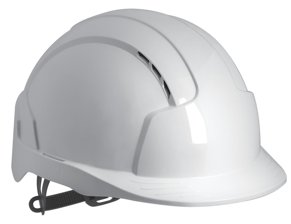 JSP EVOLite CR2 Safety Helmet ABS 6-point Terylene Harness EN397 Standard White Ref AJB160-000-100