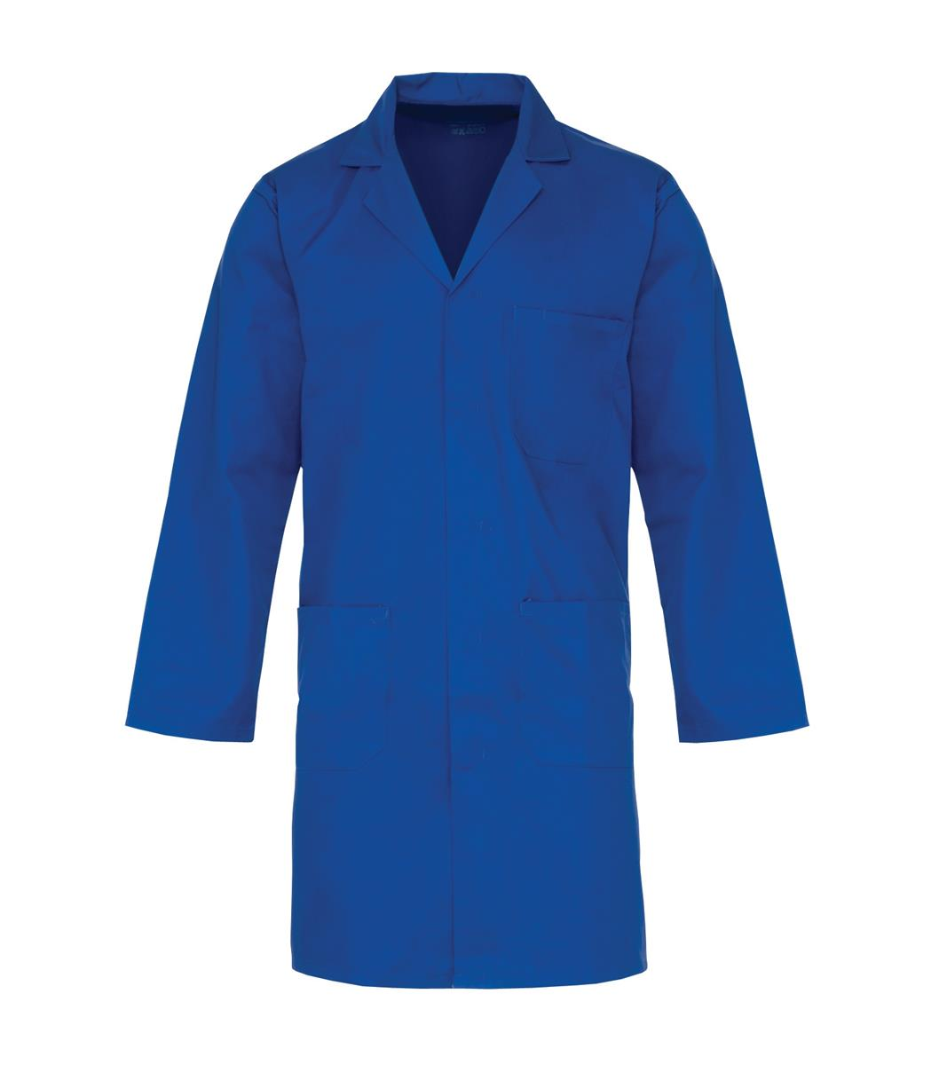 Supertouch Lab Coat Polycotton with 3 Pockets Small Navy Ref 57011 *Approx 3 Day Leadtime*