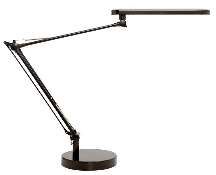 Unilux Mambo LED Desk Lamp with Double-Jointed Arm Black Ref 400087707