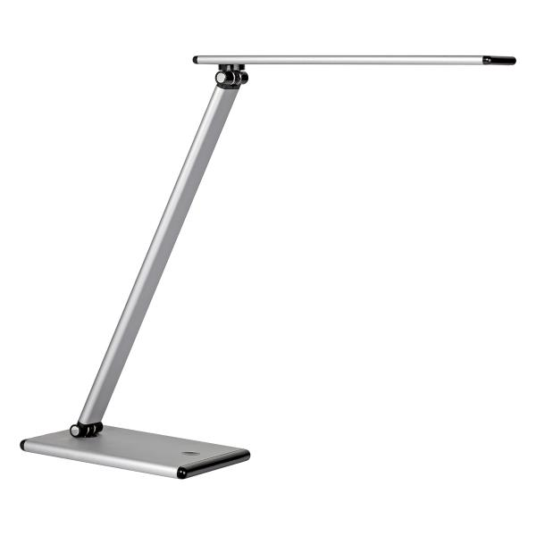 Unilux Terra LED Desk Lamp Dimmable with 4 Levels Brightness Rotating Arm 20000Hours Silver Ref 400087000