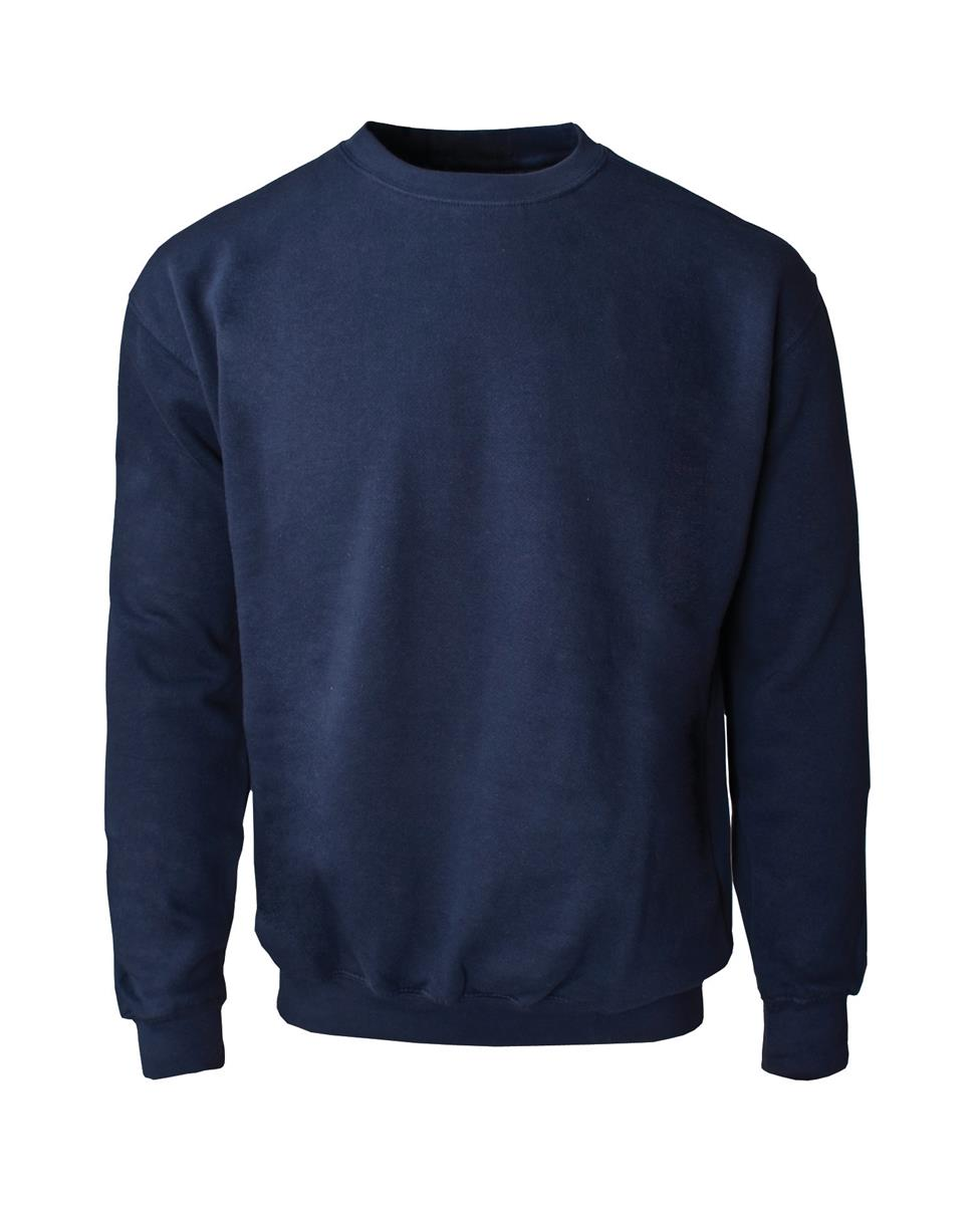 Supertouch Sweatshirt with Crew Neck Large Navy (Pack of 1)