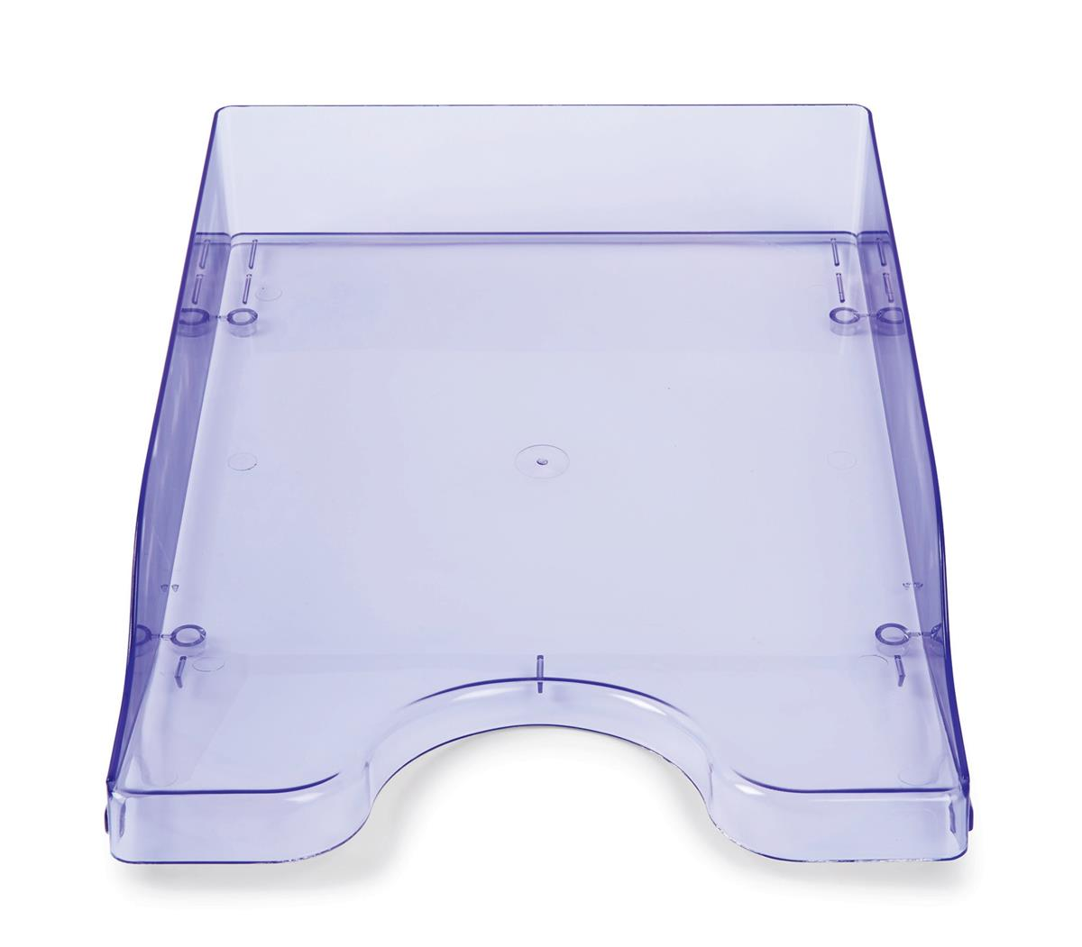 Continental Letter Tray Polystyrene for A4 Foolscap and Computer Printouts Ice Purple