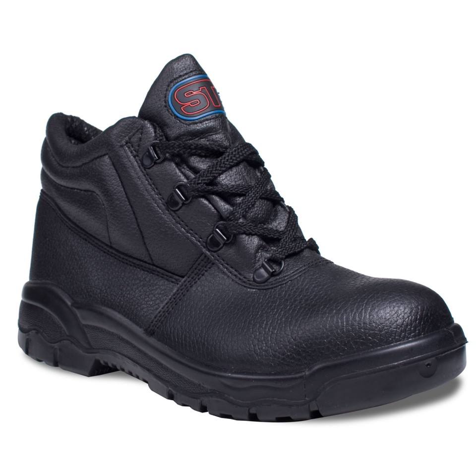 Supertouch Chukka Boot Leather Steel Toecap & Midsole Size 7 Black Ref PM100 7 *Approx 3 Day Leadtime*