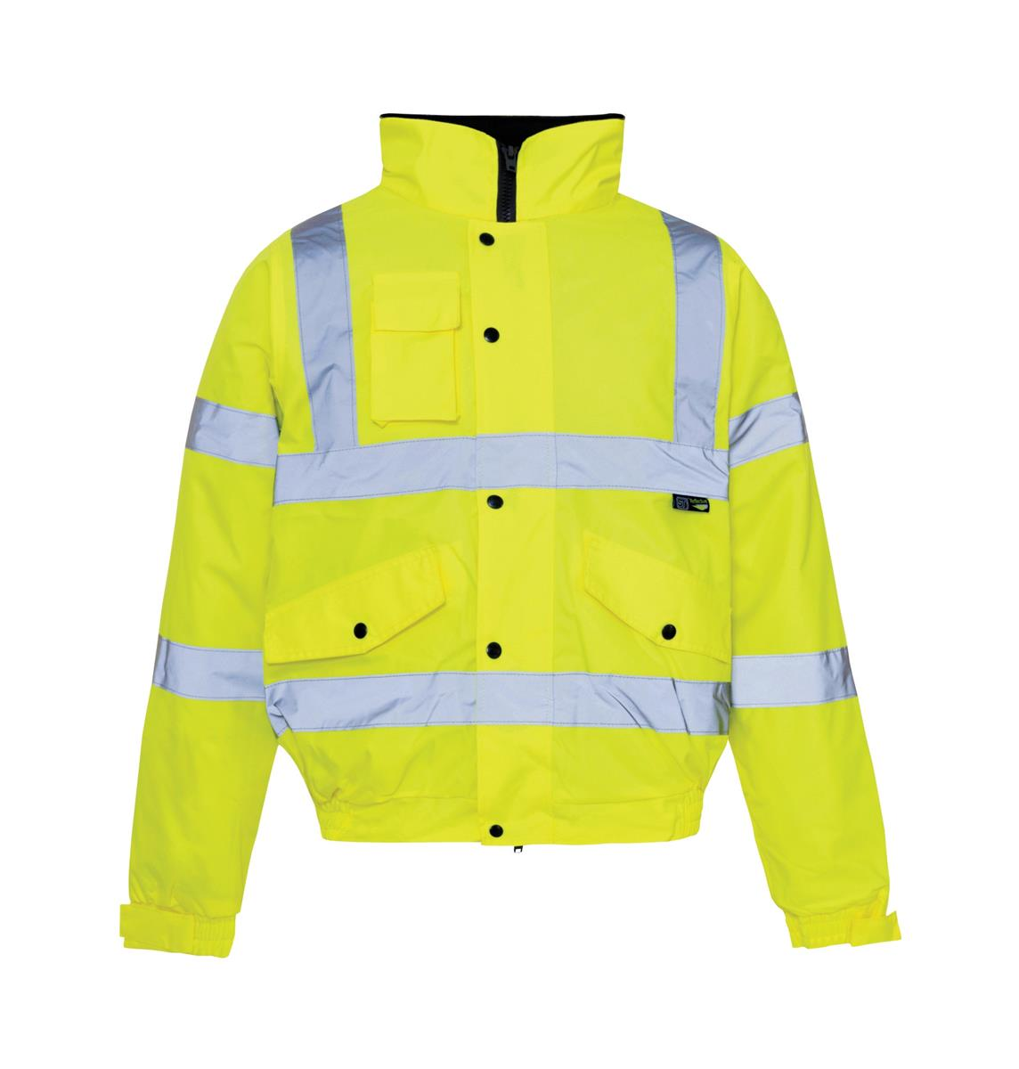 ST High Vis Standard Jacket Storm Bomber Warm Padded Lining Large Yellow Ref 36843 *Approx 3 Day L/Time*