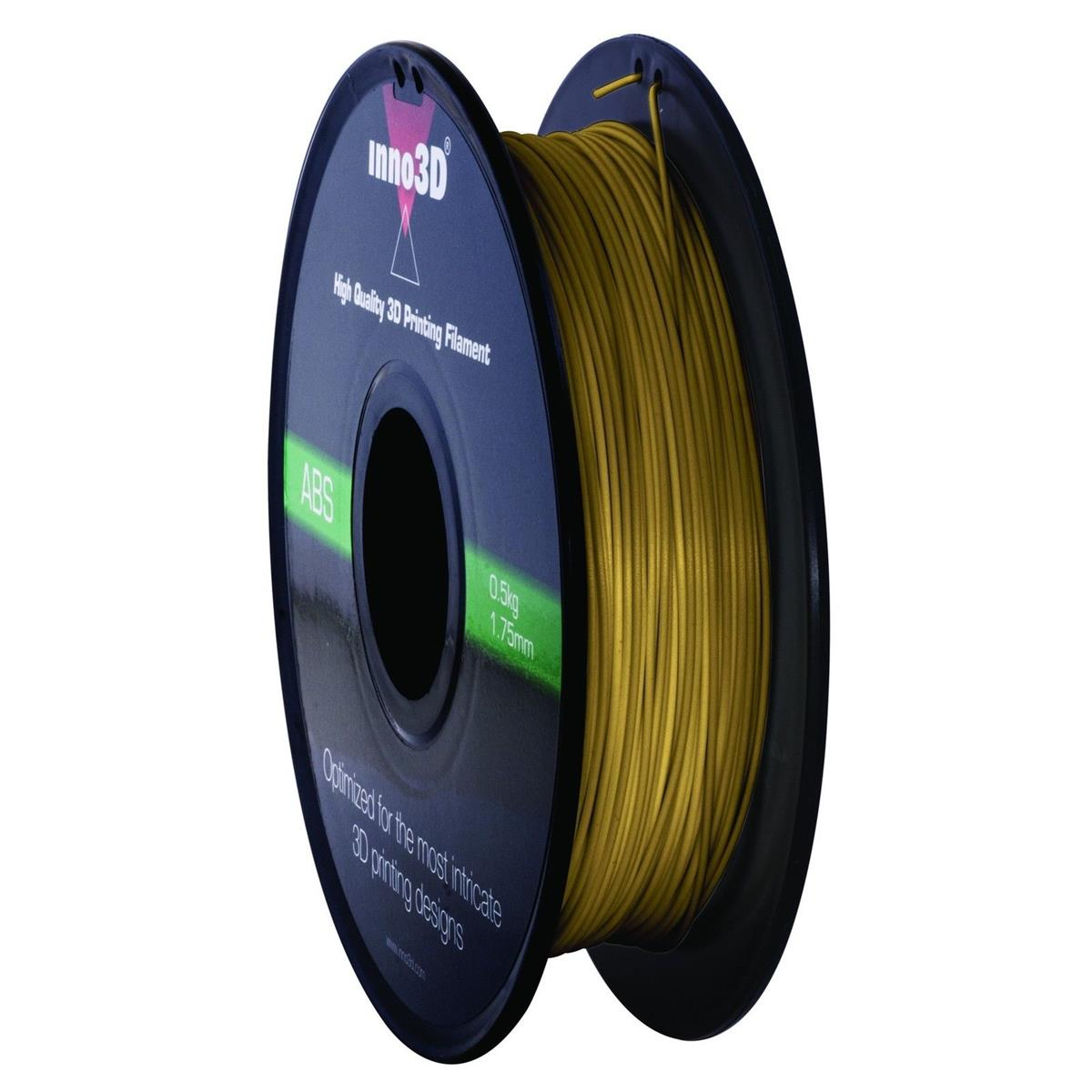 Inno3D ABS Filament for 3D Printer 1.75x200mm 0.5kg Gold Ref 3DPFA175GD05