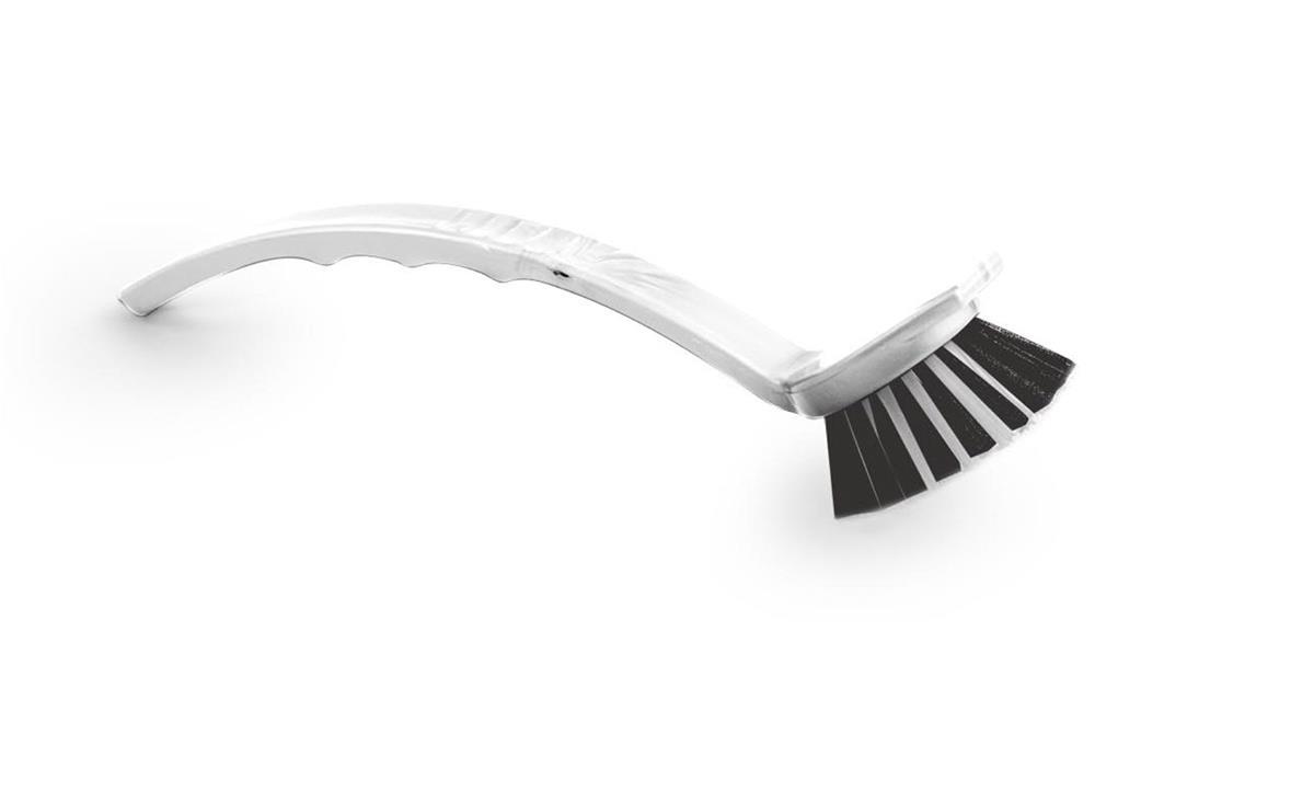 Dish Washing Brush Round Head with Scraper White