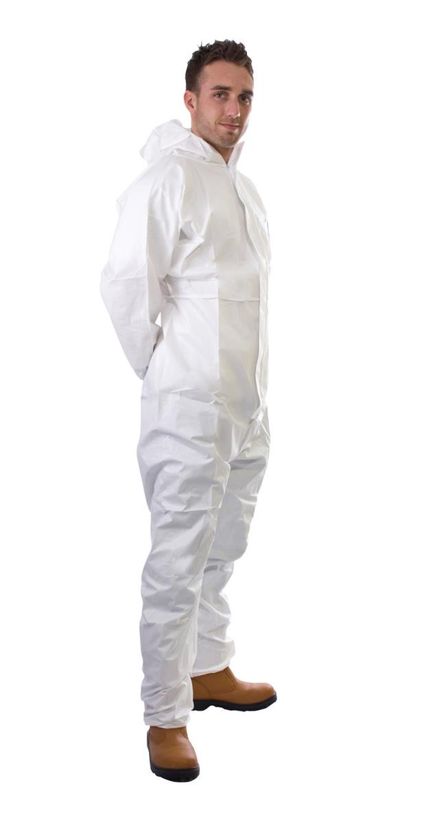 Supertouch Supertex Plus Coverall Type 5/6 Protection Medium White Ref 17902 *Approx 3 Day Leadtime*