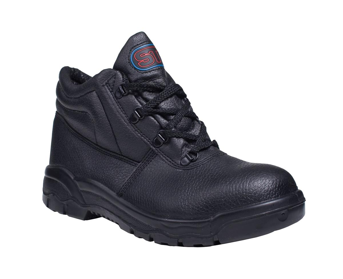 Supertouch Chukka Boot Leather Steel Toecap & Midsole Size 3 Black Ref PM100 3 *Approx 3 Day Leadtime*