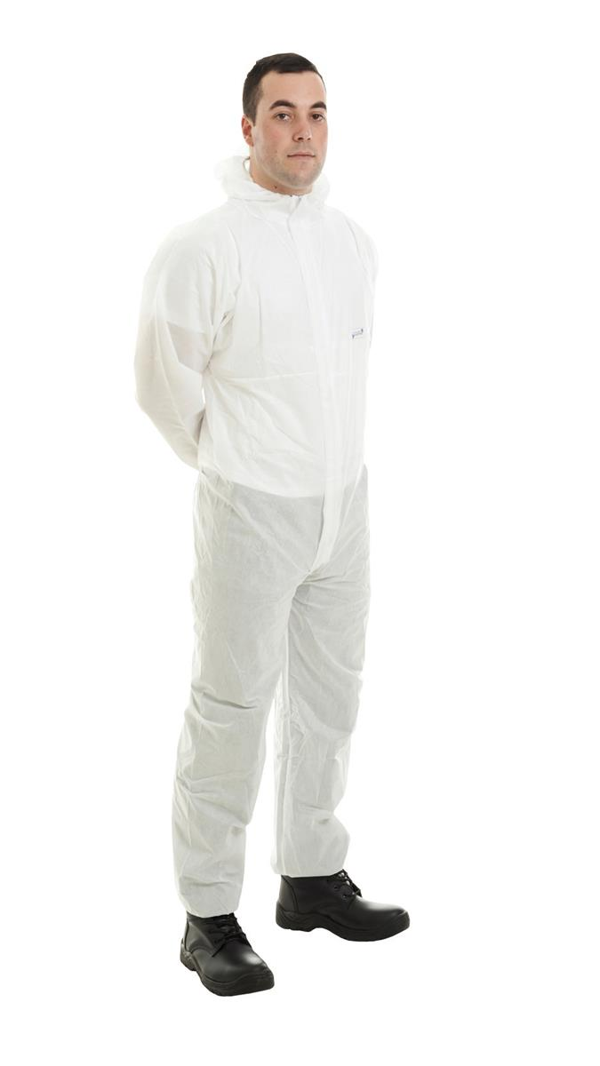 Supertouch Supertex SMS Coverall Type 5/6 Protection XXLarge White Ref 17605 *Approx 3 Day Leadtime*