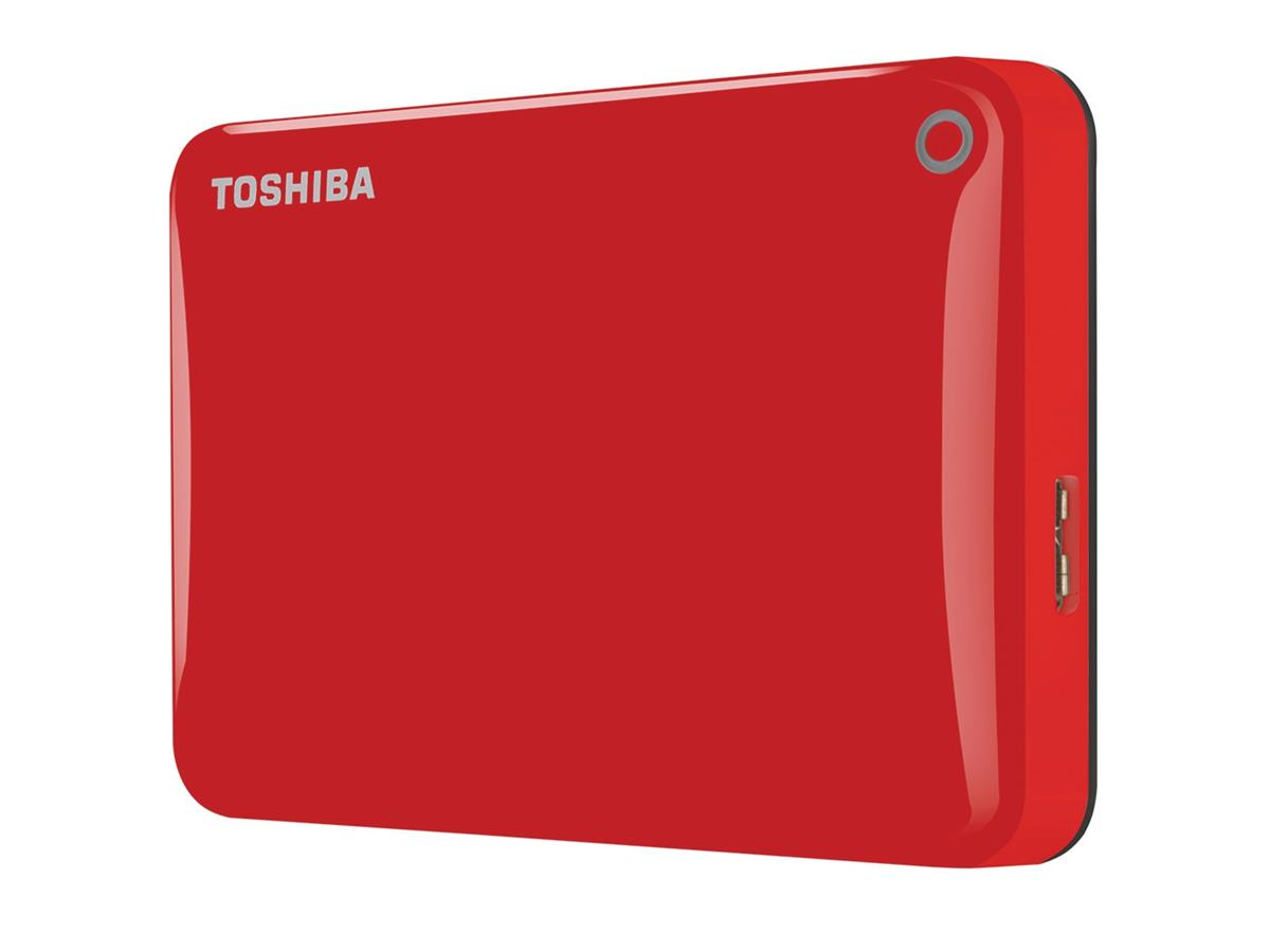 Toshiba Canvio Connect II Hard Drive USB 3.0 and 2.0 Compatible 500GB Red Ref HDTC805ER3AA