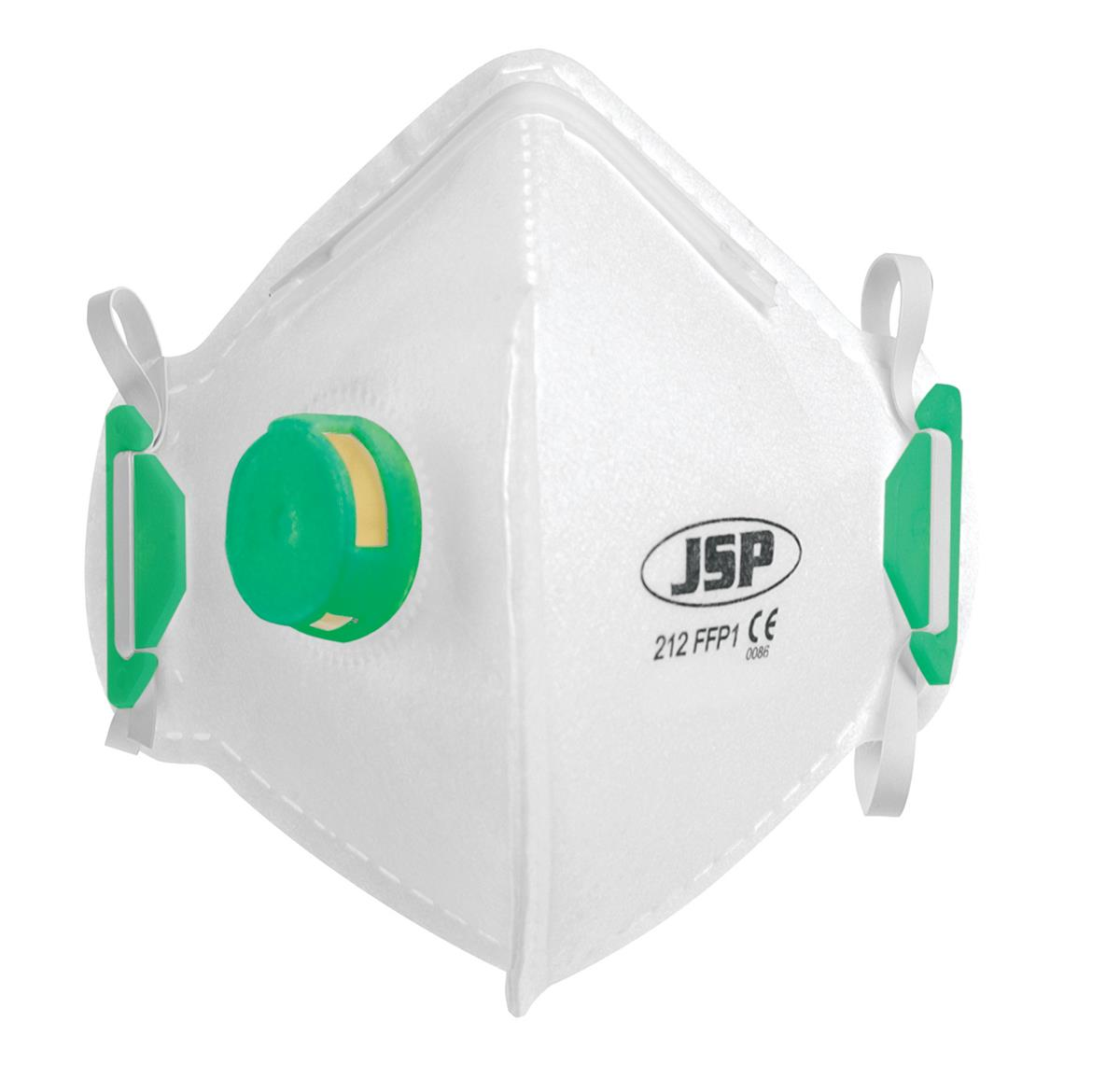 JSP Disposable Mask Valved Fold-flat FFP1 Class 1 EN149:2001 & A1:2009 Standard Ref BEB110-101-000