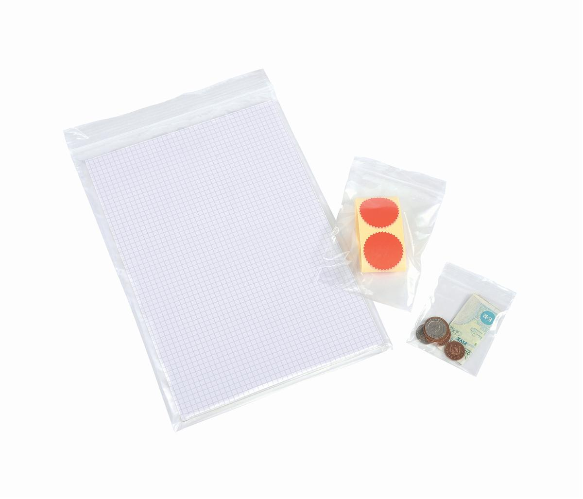 Polythene Bag Gripseal 57x57mm Standard Duty 40 Micron Clear [Pack 1000]
