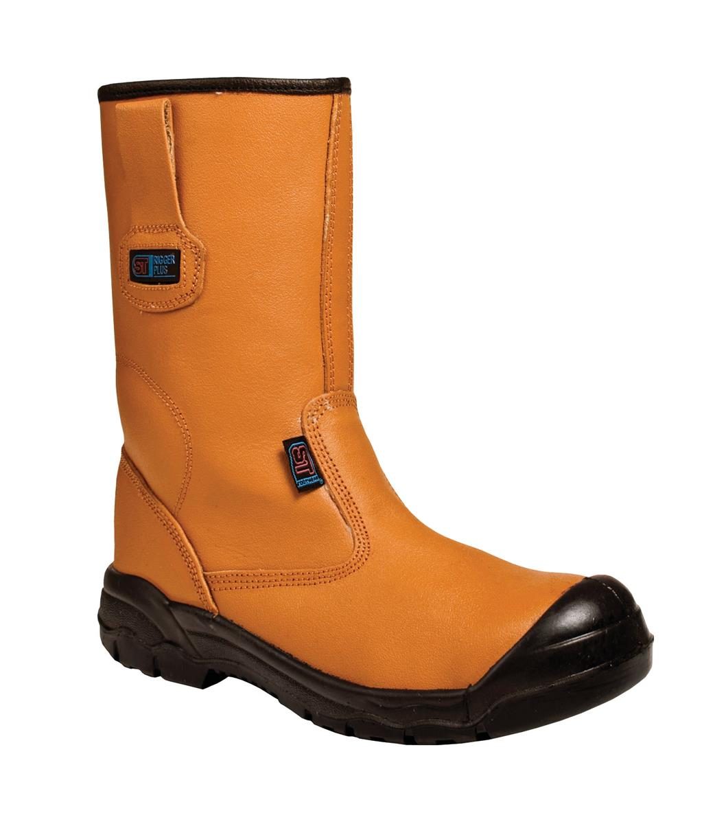 Supertouch Rigger Boot Plus Leather with Rubber Toecap Size 10 Tan Ref 90515 *Approx 3 Day Leadtime*