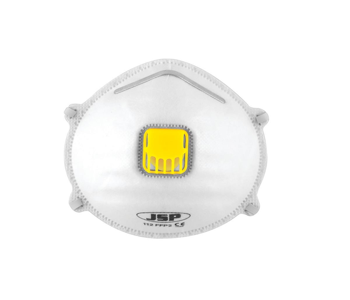 JSP Disposable Mask Valved FFP2 Moulded Class 2 EN149:2001 & A1:2009 Ref BEK120-001-000 [Pack 10]