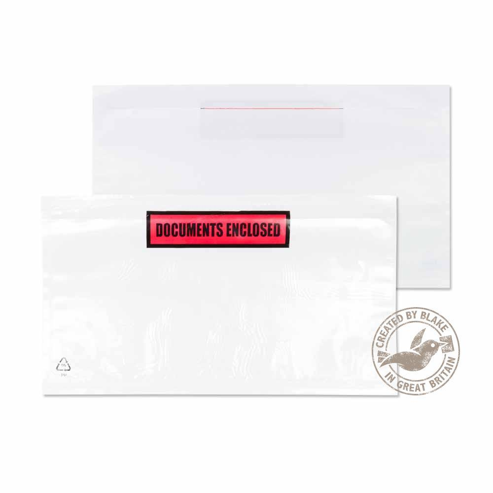 Blake Purely Packaging Printed Document Enclosed Wallet 235x132mm Ref PDE32 [Pk1000]*3 to 5 Day Leadtime*