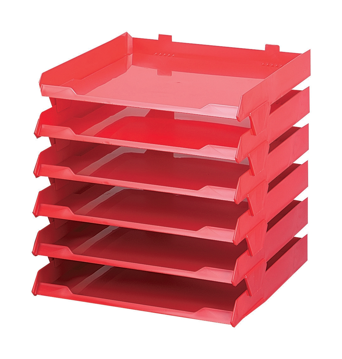 Image for Avery Paperstack Letter Tray Self-stacking A4 W250xD320xH300mm Red Ref 5336RED [Pack 6]