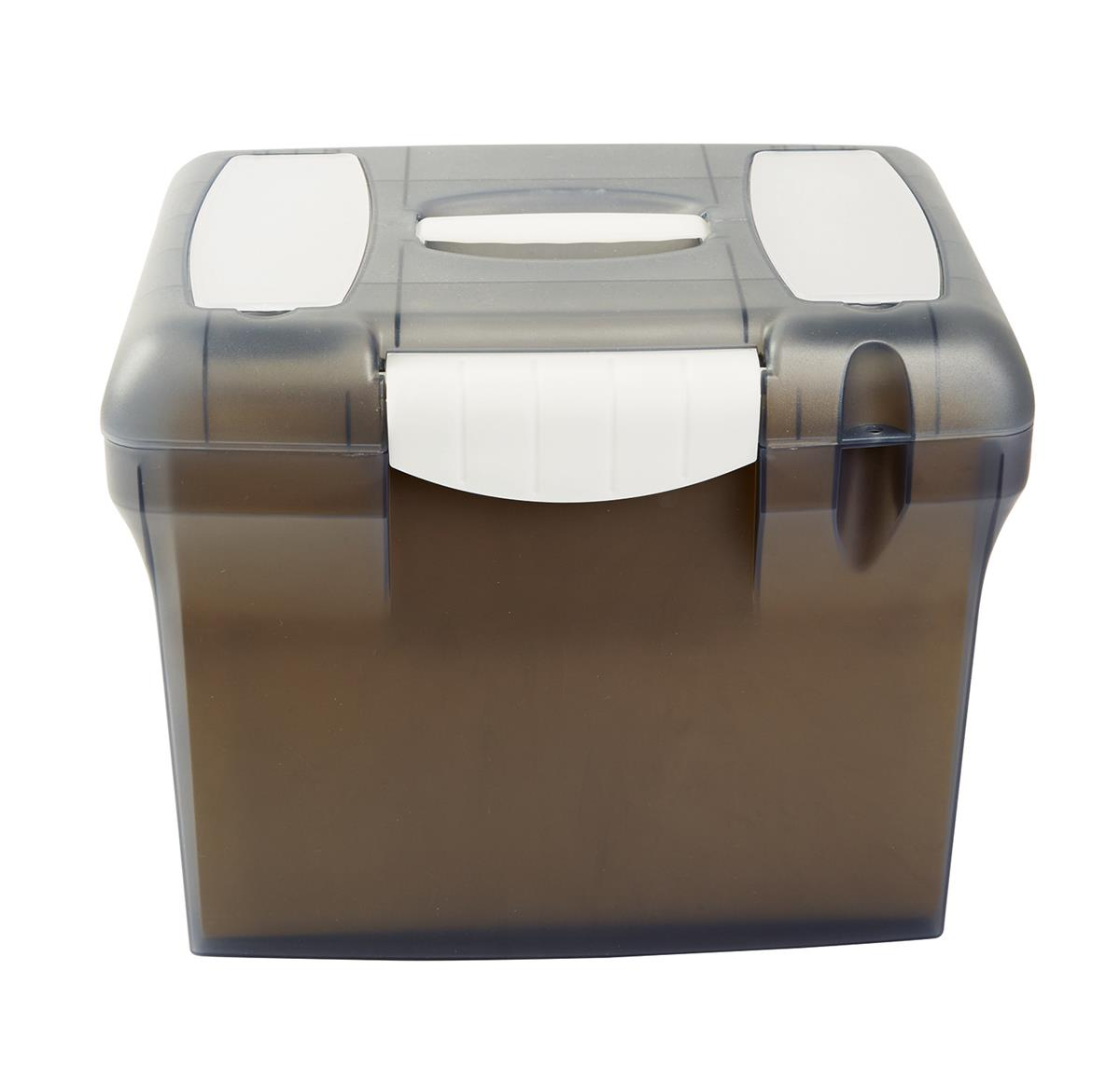 File Box with Suspension Files and Index Tabs Plastic A4 Clear