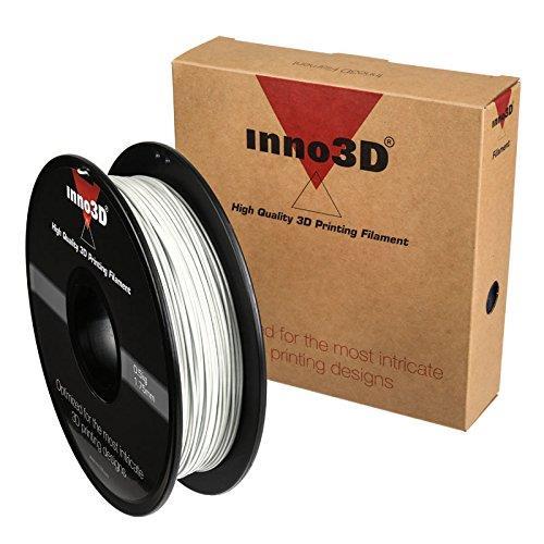 Inno3D PLA Filament for 3D Printer 1.75x200mm 0.5kg White Ref 3DPFP175WH05