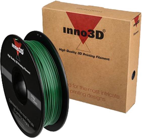 Inno3D PLA Filament for 3D Printer 1.75x200mm 0.5kg Dark Green Ref 3DPFP175SG05