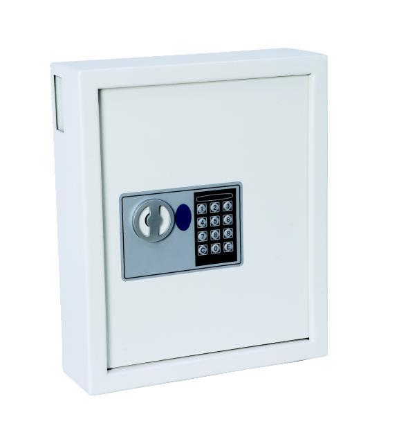 Electric Key Safe Programmable Lock Wall Mounted with Fixing Kit 60 Keys 9kg