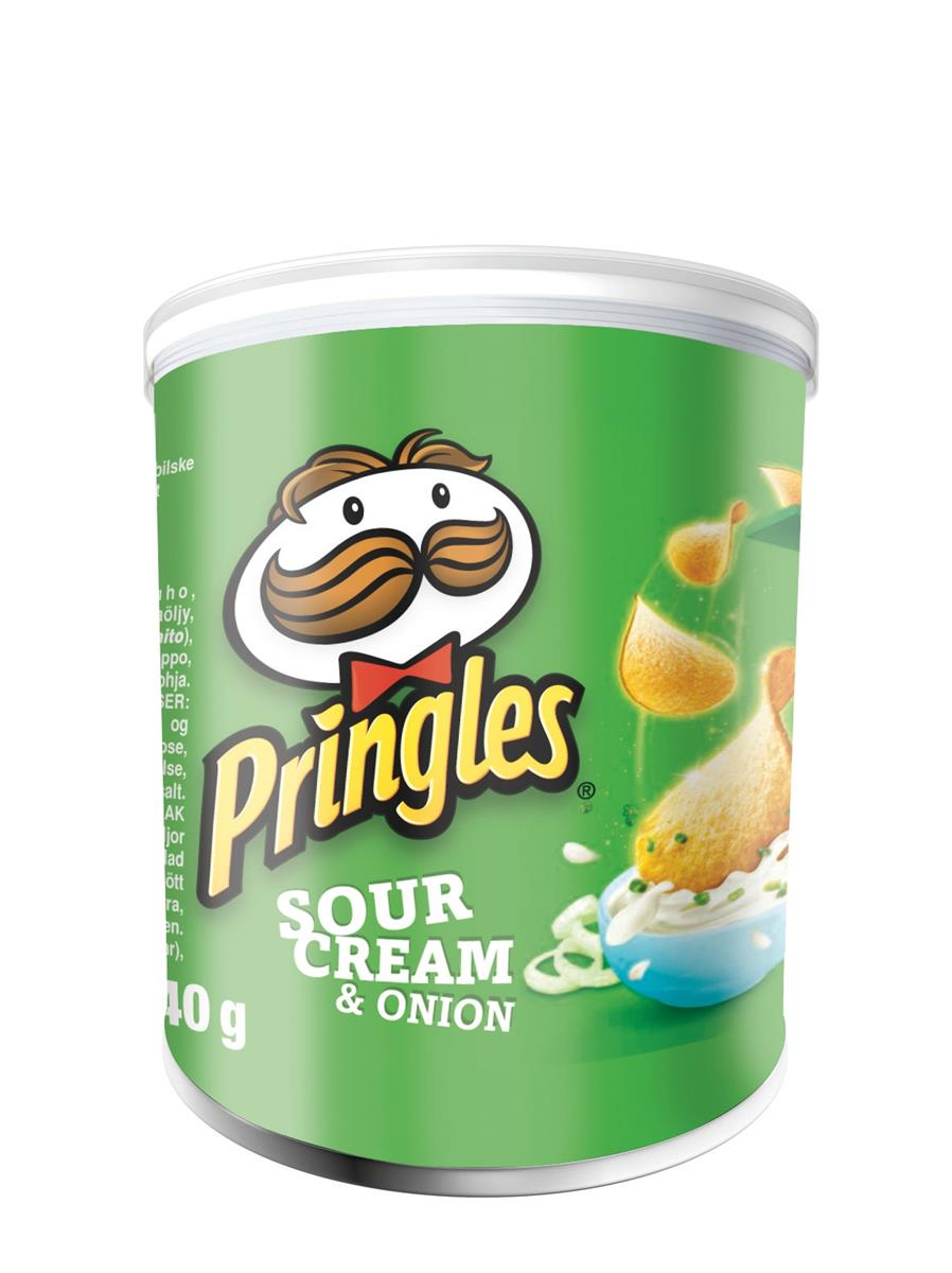 Pringles PopnGo Sour Cream Onion Crisps Unique Shape Well-seasoned Non-greasy Ref 7000279000 [Pack 12]