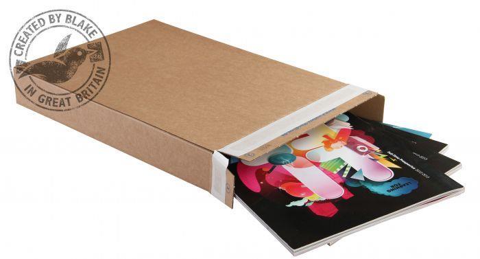 Blakes Slimline Postal Box Peel & Seal WxDxH 240x165x46mm Kraft Ref PPB20 [Pack 25]