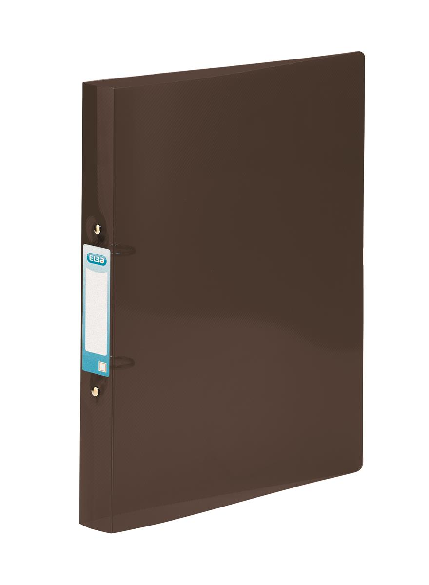 Elba Ring Binder Polypropylene 2 O-Ring 25mm A4plus Black Ref 400083835 [Pack 10]