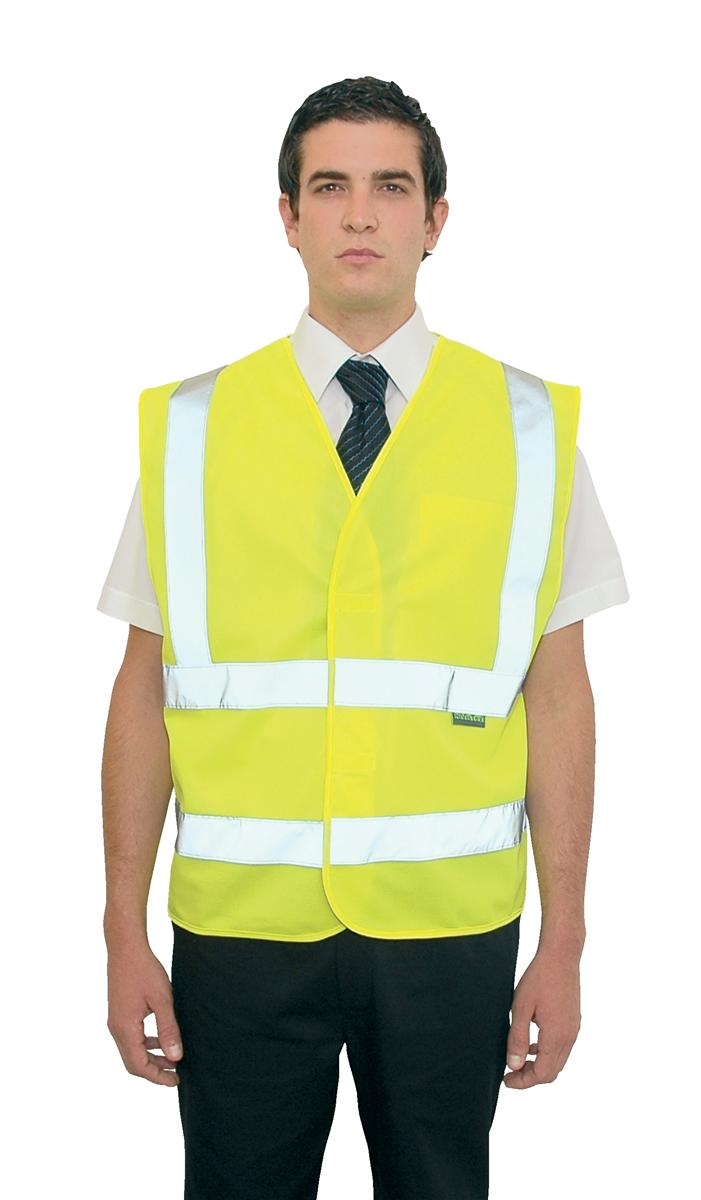 High Visibility Vest Polyester XXL-XXXL Yellow