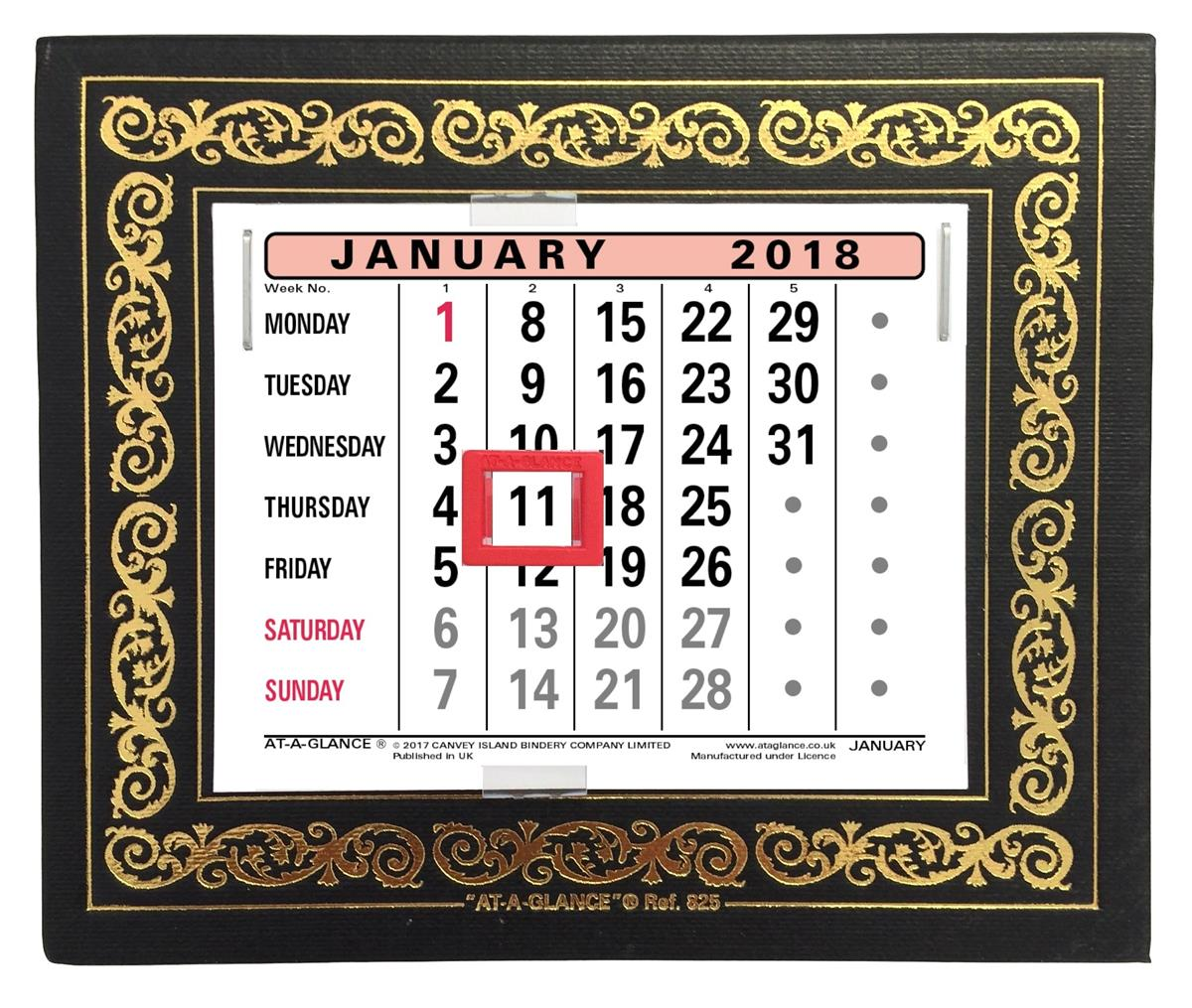 At A Glance 2018 Desk Calendar Ref 825 2018