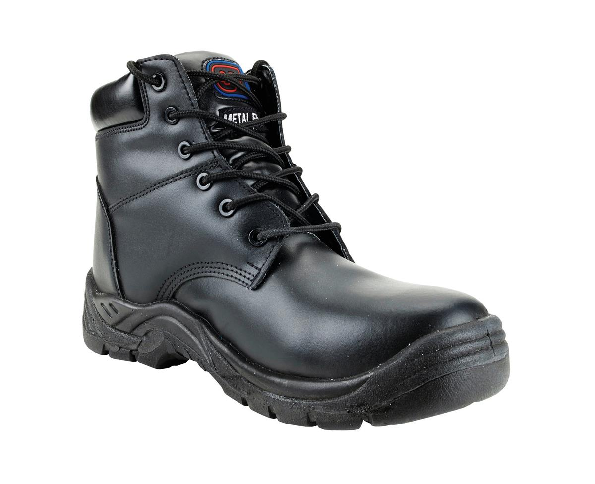 ST Toe Lite Boot Leather Comp' Midsole Safety Toecap Metal Free sze 3 Blk Ref 9017A *Approx 3 Day L/Time*