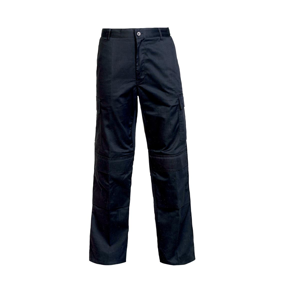 Combat Trousers Polycotton with Pockets Size 34in Long Black Ref PCTHWBL34T *1-3 Days Lead Time*