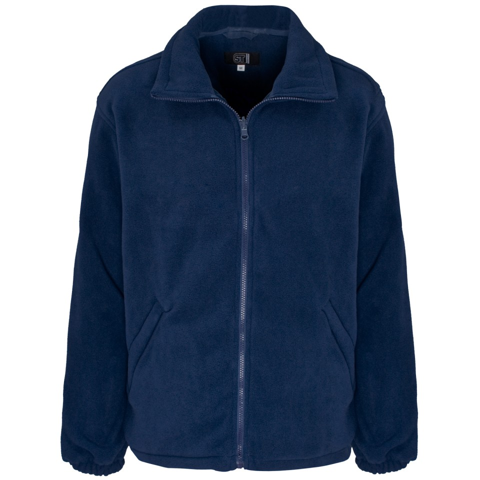 Supertouch Basic Fleece Jacket XXLarge Navy (Pack of 1)