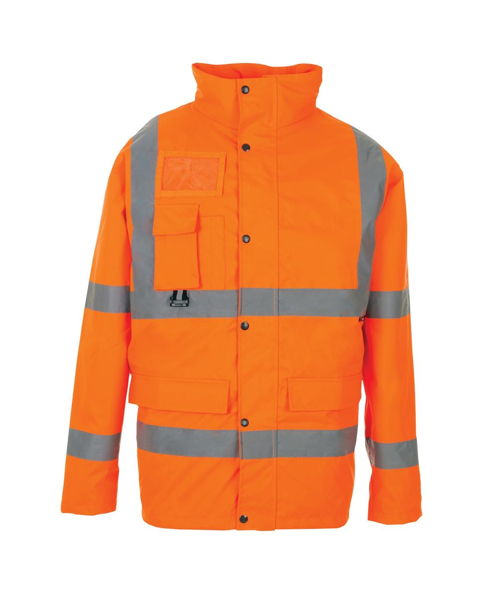 ST High Vis Breathable Jacket with 2 Band & Brace XXXXLarge Orange Ref 35B87 *Approx 3 Day Leadtime*