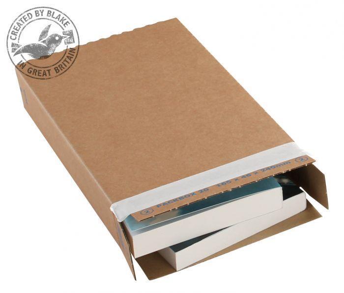 Blakes Slimline Postal Box Peel & Seal WxDxH 346x243x46mm Kraft Ref PPB40 [Pack 25]