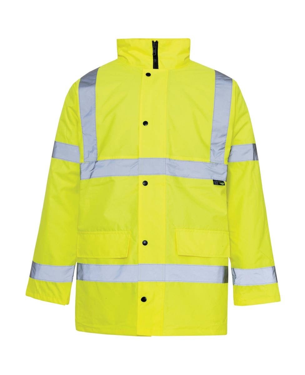 ST High Visibility Standard Parka with 2-Way Zip Fastening Large Yellow Ref 35423 *Approx 3 Day Leadtime*