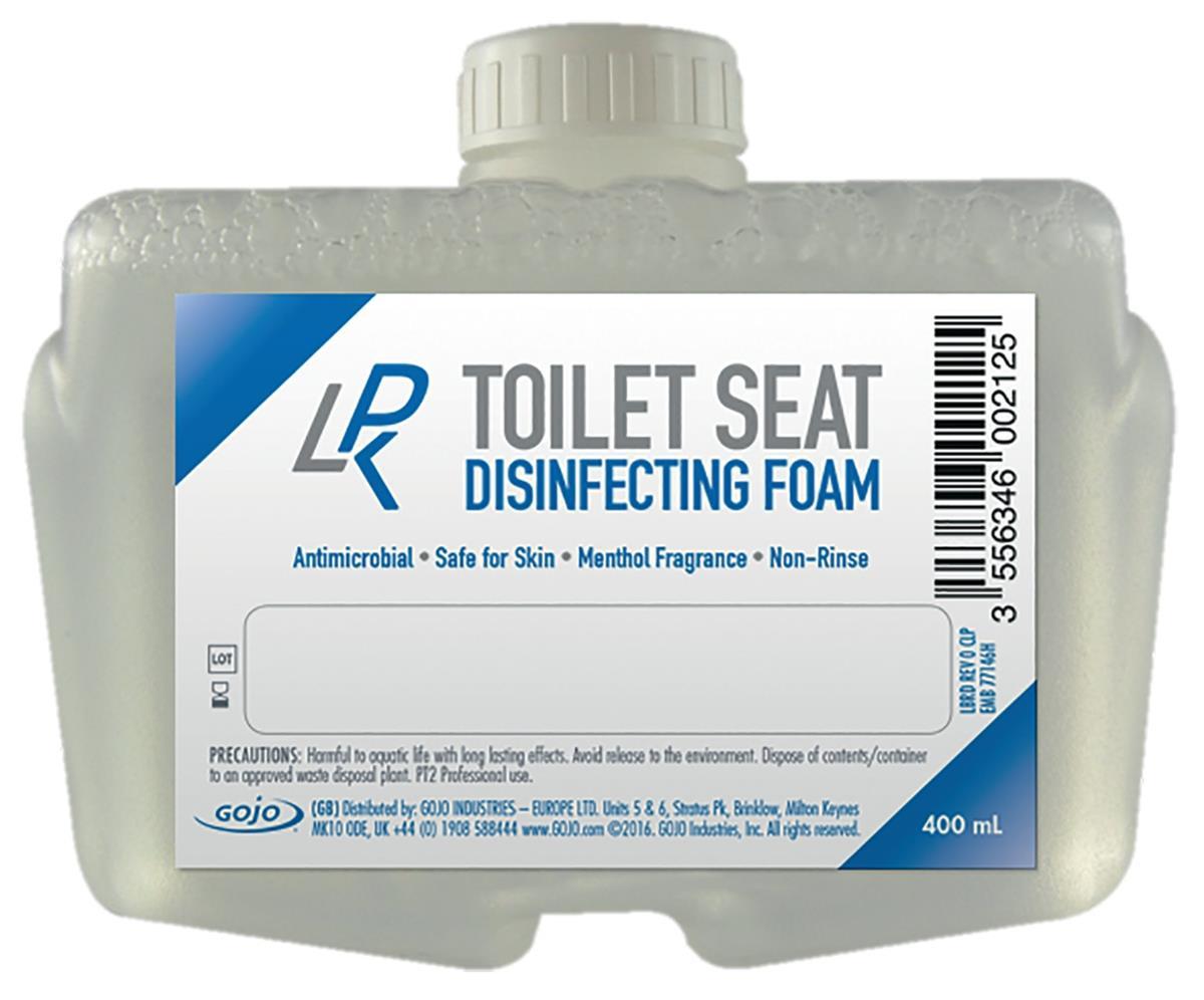 Gojo Toilet Seat Disinfectant Foam 400ml Ref N07611 [Pack 12]