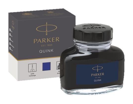 Parker Quink Bottled Ink for Fountain Pens Blue 57ml Ref 1950376